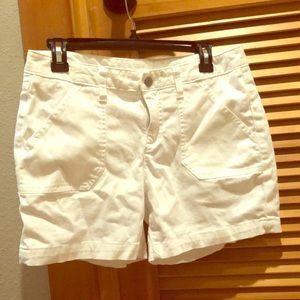 Caslon white cotton shorts